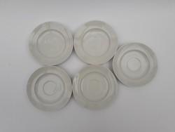 5 db fehér Alföldi csészealátét - mokkás, eszpresszós, kávés tányérok - csészealj, tányér