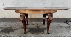Barokk oval asztal , étkezőasztal bővíthető lappal