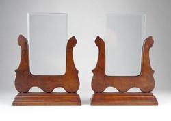 0Y070 Régi neobarokk asztali fényképtartó pár