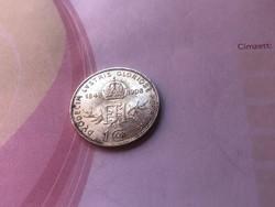 1908 ezüst jubileumi 1 korona gyönyörű darab