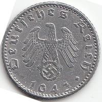 Német III. Birodalom 50 pfennig 1943A