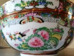 Pazar kínai kézzel festett, aranyozott nagyméretű tál