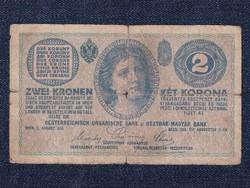 Osztrák-Magyar Korona bankjegyek (háború alatt) 2 Korona bankjegy 1914 / id 11030/