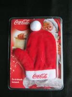 Coca-cola Mikulás kulcstartó kesztyű