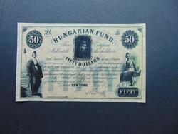 50 dollár 1852 KORABELI HAMISÍTVÁNY  RITKA !