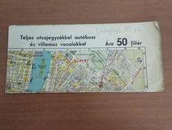 """Stoits György """"Merre menjek"""" (1941-es): Budapest közlekedési térképe eladó"""