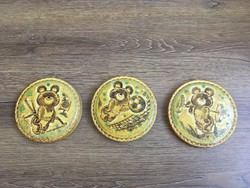 3 darab jelzett olimpiai Misa mackós fali kerámia