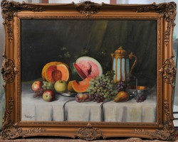 Újházy Ferenc (1827-1921): Gyümölcs csendélet