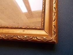 Antik  képkeret üveggel.17,3x12,4 cm