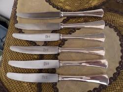 6 db ezüst kés
