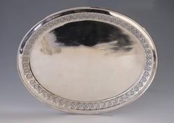 Ezüst áttört mintázatú tálca