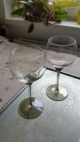 Gyönyörű talpas pohár,  boros pohár 2 db eladó!