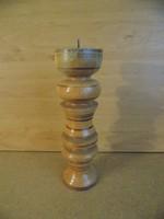 Retro esztergált fa gyertyatartó 23 cm (5/d)