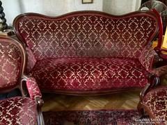 Meseszép barokk meggyfa ülőgarnitúra
