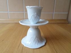 Fürstenberg fehér porcelán gyertyatartó