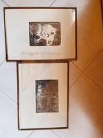 Szignós, orosz metszet, 2 db, kimerítő tájékoztató a hátoldalán, Szentpétervár kortárs krémjéből