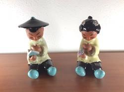 2 db Wiener keramik design figura Carli Bauer-től.