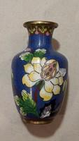 Festett porcelán váza, 10 cm-es, 2 db