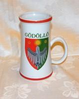 Gödöllő címeres emlék bögre  régebbi Hollóházi  porcelán