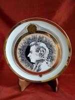 Alföldi porcelán tányér Szász Endre Mozart