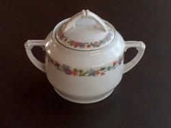 Ízléses meisseni porcelán cukortartó