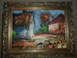 Szőke Zoltán, olaj, festőkés, farost, 55x45 cm, keret nélküli akció