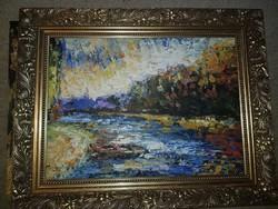 Szőke Zoltán, olaj, festőkés, farost, 57x40 cm, keret nélküli akció