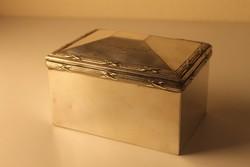 Art Deco alpakka cukordoboz Hutschenreuter