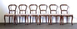 0Y208 Neobarokk szék garnitúra 6 darab