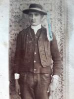 Régi fotó vintage fénykép férfi népviseletben 1929