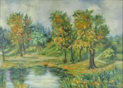 0Y261 Magyar festő XX. század : Vízparti táj