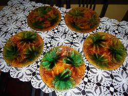 Schramberg majolika süteményes tányérok
