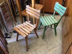 Régi vintage fa kis szék gyerekszék