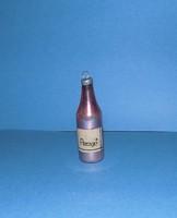 Régi üveg karácsonyfadísz pezsgő 7,5 cm (1)