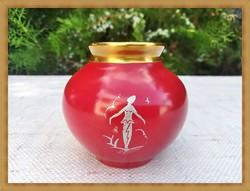 Német Plankenhammer Floss, Art Deco porcelán váza