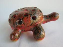 Tófej kerámia teknős