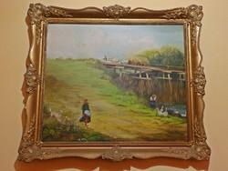 Nagyméretű olaj festmény