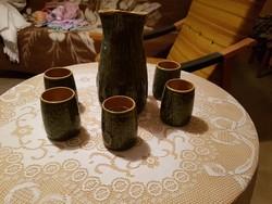 Retro kerámia boros készlet