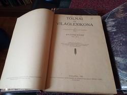 TOLNAI ÚJ VILÁGLEXIKONA 2-5-7-8-12-13-14-16 kötetei egybe ingyen posta