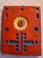 Retrós kerámia falikép