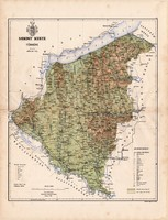 Somogy megye térkép 1886 (4), vármegye, atlasz, Kogutowicz Manó, 42 x 56 cm, Gönczy Pál, Balaton
