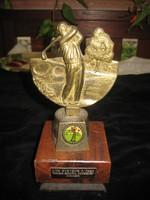 Golf   díjazás  , Anglia   , 20 cm ,bronz  és fa
