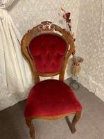 4 db Neobarokk kecses szék
