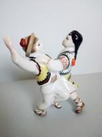 Ritka, orosz porcelán táncoló gyerekek