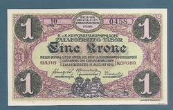 1 Korona Zalaegerszeg ( ZAE- 4a ) aUNC - UNC Sorozat és sorszámmal