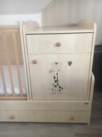 Kombi gyerekágy szekrénnyel ágyneműtartóval