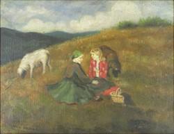 0Y234 Glatz Oszkár másolat : Piknikező lányok