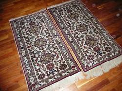 2 db sűrű szövésű, antik kézi csomózású perzsa szőnyeg újszerű állapotban! 125*60 cm