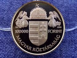 Államalapító Szent István .986 arany 100000 Forint 31,1g 2001 BP PP / id 11887/
