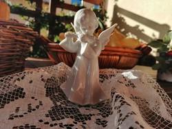 Porcelán angyal nipp, karácsony